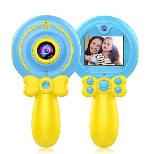 Myhappy Macchina Fotografica per Bambini, Ragazzo Fotocamera Digitale Bambini Selfie Fotocamera 8MP 1080P HD (Blu)