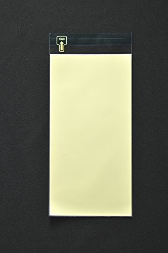 印刷透明封筒 長3 【500枚】 OPP 50μ(0.05mm) 表:イエローベタ 切手/筆記可 静電気防止処理テープ付き 折線付き 横120×縦235+フタ30mm印刷可