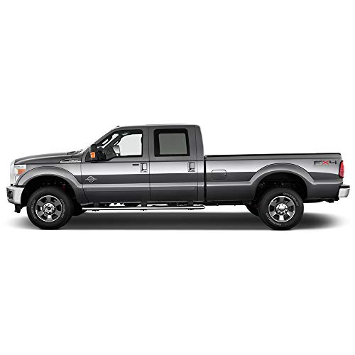 Dawn Enterprises FE2-F250/350-CC Finished End Body Side Molding Compatible with Ford F-250, F-350 - Oxford White (Z1)