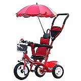 NUBAO Bicicleta de triciclo para bebé triciclo – Trike ajustable para niños, niños pequeños, niños de 15 meses a años con toldo extraíble (color: B) triciclos para niños de 1 a 3 años (color: A)