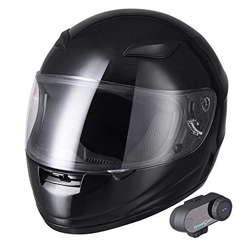 AHR Run-B Bluetooth Motorcycle Modular Helmet Full Face with Wireless Headset Hands Free Intercom MP3 FM DOT