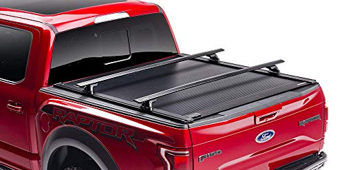 """RetraxONE XR Retractable Truck Bed Tonneau Cover   T-60841   Fits 2007-2020 Tundra CrewMax with Deck Rail System 5' 5"""" Bed"""