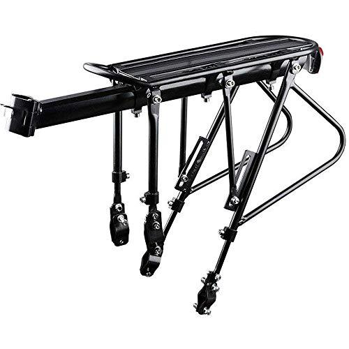 WAN Qin Biking Bike Carrier Rack, Capacidad de 220 LB de Lanzamiento rápido Ideal para 20'-29' Marcos de Bicicleta Ajustable para Cargas Superiores y Laterales más Pesadas