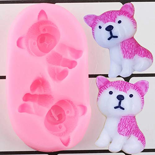 ZZYOU 3D Cute Dog Silicone Mold Diy Party Cake Decoration Tool Candy Chocolate Fudge Mold Polymer Clay Resin Mold
