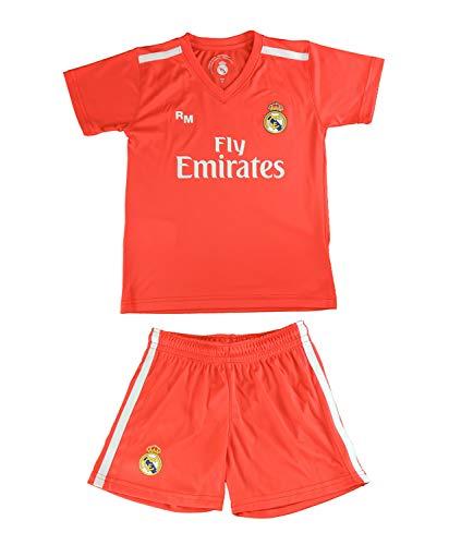 Kit Camiseta y Pantalón Junior Real Madrid - Réplica Autorizada - Courtois...