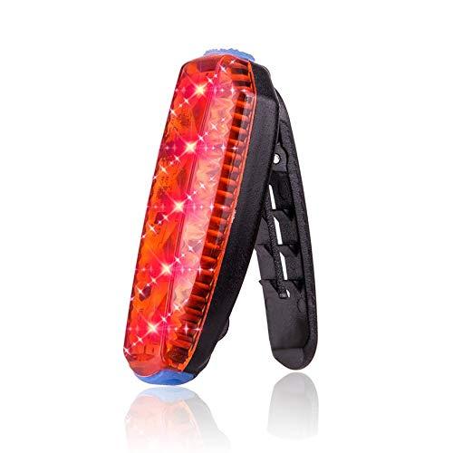 Lámpara USB recargable carretera montaña bicicleta clip impermeable advertencia seguridad trasera luz luz