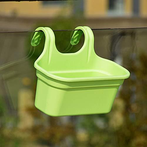 JKXWX Draagbare Kunststof bloempot Tuin Multifunctionele Bloem Pot Opslag Outdoor Decoratieve Balkon Container Muur Opknoping Thuis Dubbele Haak