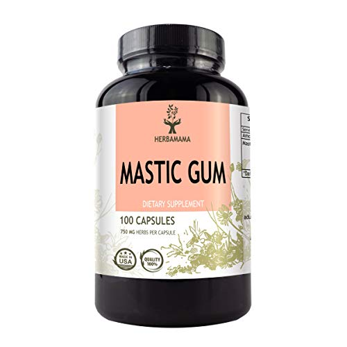 Mastic Gum 100 Capsules 750 mg | Supports Digestive System | Antioxidant | Promotes Circulatory Health | Anti-Inflammatory