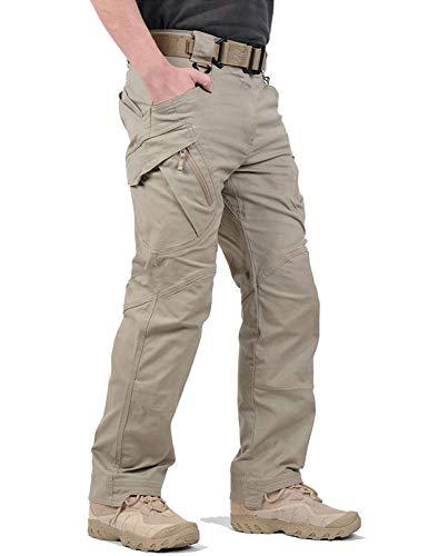 FEDTOSING カーゴパンツ メンズ ボトムス ミリタリー ワークパンツ タクティカルパンツ バイク 登山 サバゲー用 作業用 多機能 S~XXXL khakiXL