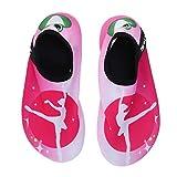 Zapatos de agua de playa para niños de secado rápido Verano suave antideslizante, natación, surf, buceo, calcetines, zapatillas de deporte para niños (Ballet Girl 36/37)
