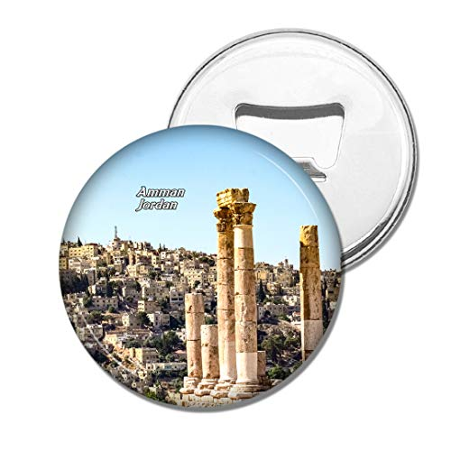 Weekino Jordanien-Tempel des Herkules Amman Bier Flaschenöffner Kühlschrank Magnet Metall Souvenir Reise Gift