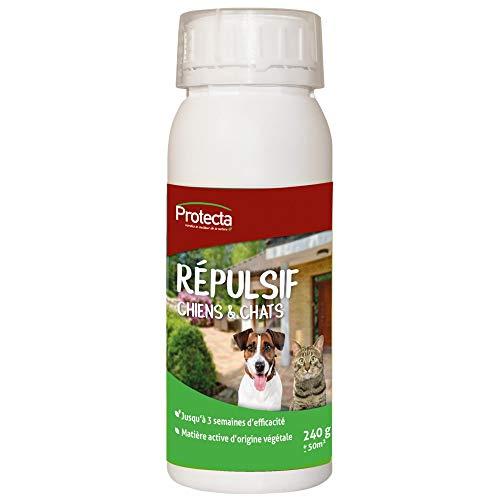 Protecta repelente Natural en granulado para gatos y perros fabricado en Francia.