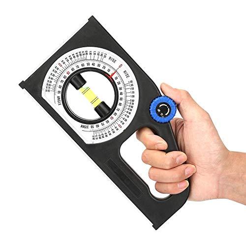 Escalas claras Medidor de ángulo de 0-180 ° Inclinómetro de plástico de ingeniería Regla de medición de pendiente Medidor de pendiente para ajuste de medición de pendiente
