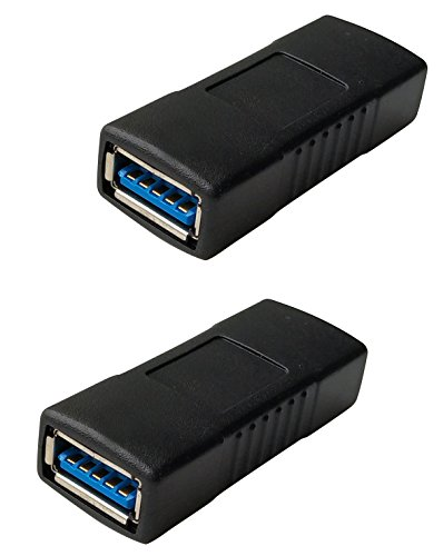USB 30 Female to Female Extension Connector Adapter 2 Pack