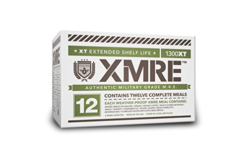XMRE Meals 1300XT - 12 Case (Meal Ready to Eat - Military Grade) No Heaters