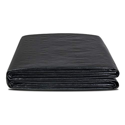 HUADA Wasserdicht 5x6m Heavy Duty Tarpaulin- Haus & Garten Schwarz Tarp Blatt - Premium Qualität Abdeckung aus 160gsm Persenning (Size : 3mx6m)
