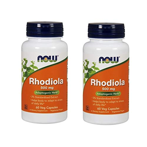 Rhodiola Adaptogenic Herb 500mg 60 Veg Capsules(Two Pack)