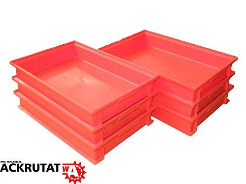 6 Schäfer 14/6-2F Behälter Kästen rot Stapelbox Lagerkasten Kiste Eurobehälter