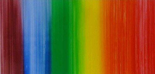 Wachsplatte Regenbogen, quergestreift 20x10 cm - 9752 - Verzierwachsplatte 200x100 mm für Kerzen