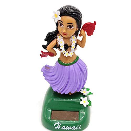 Solar Wackelfiguren Für Auto Hawaii Hula Girl, Solarbetriebenes Spielzeug Dekofigur, Solar Tanzen Ideal Für Die Fensterbank, Auto, Büro, Schreibtisch