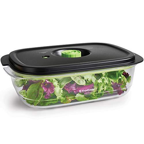 FoodSaver Recipiente de envasado al vacío para conservar y marinar, Recipiente hermético para alimentos sin BPA, A prueba de fugas, Apto para lavavajillas, 2.3 L