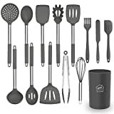 Silicone Cooking Utensil Set, AILUKI Kitchen Utensils 14 Pcs Cooking Utensils Set,Non-stick Heat...