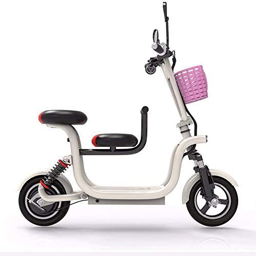FUJGYLGL Portable Adulto Scooter eléctrico, Cuerpo de aleación de Aluminio, Plegable, Cuerpo de Luz, batería de Larga duración, Sensible de frenado, Pueden Transportar Objetos
