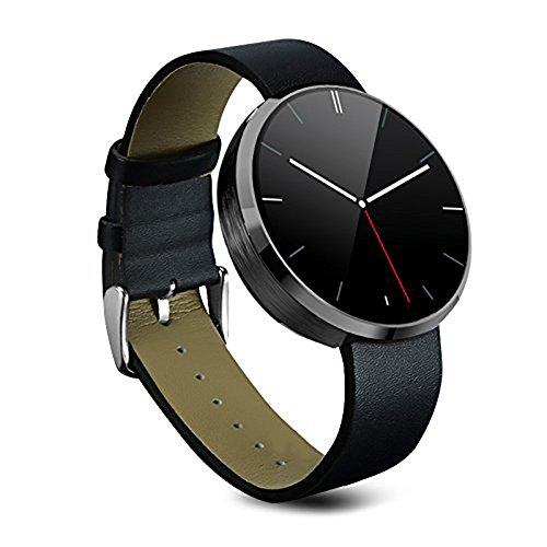 Orologio Sportivo Impermeabile, Sportwatch, Stoga St-DM360 orologio da polso, smartwatch con cinturino, Mini monitor controllo vocale e chiamate vocali per iPhone iPhone 4/4S/5C/5S/6/6s Android Samsung S6/Edge S6/S4/S5/Note3/nota 4 HTC (nero)