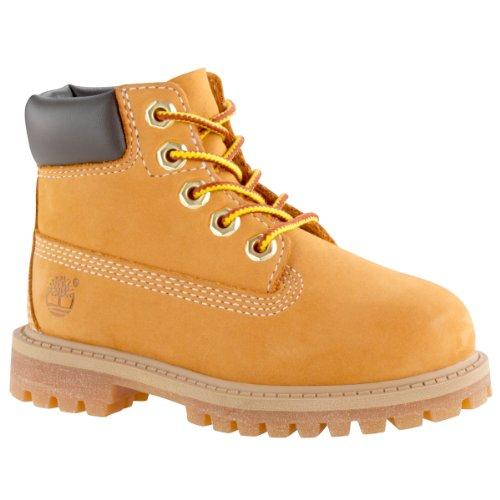[ティンバーランド] JUNIOR 6INCH PREMIUM WATERPROOF BOOTS ブーツ 6インチ プレミアム イエロー 12909 22.5