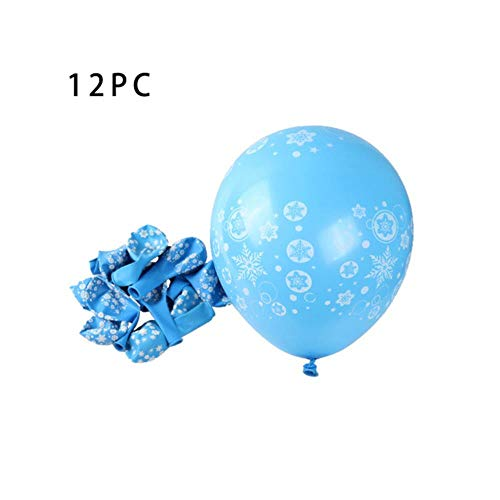 Xinger 12st Frozen Snowflake Latex Ballon Verjaardag Bruiloft Kerstfeest   Decoraties party, blauw