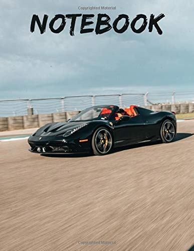 Ferrari 812 Superfast Notebook: Awesome Notebook 120 pages 8.5x11',perfect for men, women, boys and girls and for any...