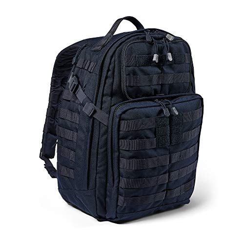 5.11 Tactical Backpack – Rush 24 2.0 – Military Molle Pack, CCW and Laptop Compartment, 37 Liter, Medium, Style 56563 – Dark Navy