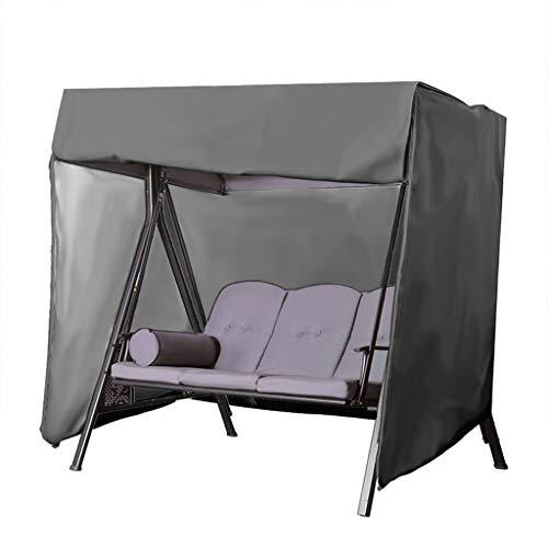 Yanyan Housse Balancelle Auvent - Étanche Anti-UV Canopée Couverture De Siège 3 Places Housse De Hamac Meubles (Color : Black, Size : 420D 220 * 125 * 170cm)