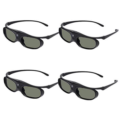 Docooler GL2100 Projector 3D Glasses Active Shutter Rechargeable DLP-Link for All 3D DLP Projectors Optama Acer BenQ ViewSonic Sharp Dell 4 Stück
