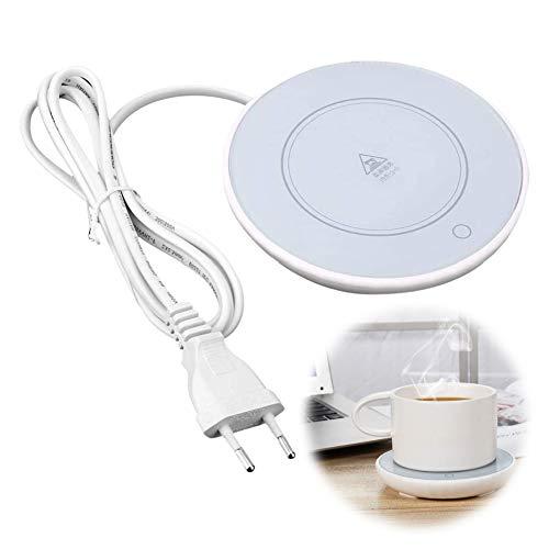 𝐒𝐞𝐦𝐚𝐧𝐚 𝐒𝐚𝐧𝐭𝐚 Cojín calentador de tazas, calentador de colchoneta de calefacción electrónica para té, café, leche, oficina en casa(EU220V)