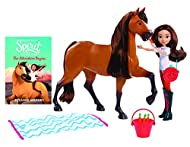 Spirit can eat the carrots and features realistic horse sounds Lucky is posable and can ride Spirit Lucky comes dressed in removable signature outfit and her special boots Ages 3+