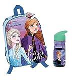 RSL Frozen Mochila escolar y botella. Mochila escolar reversible