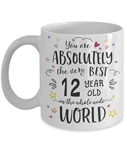 WTOMUG 12th Birthday Gift Mug - 12 Year Old Happy Birthday Children Best Ever Cup - Joke Congratulations Present For Boy Girl Kids (11oz)