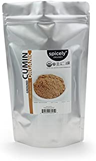 Spicely Organic Cumin Ground 1 Lb Bag Certified Gluten Free