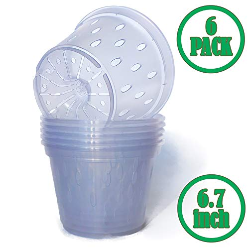 5 6 7 Inch Plastic Clear Orchid Pot Planter Container Flower Plants Pot PP Mesh