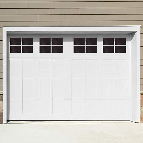 WINSOON Decorative Magnetic Garage Door Window Panels Vinyl Thick Faux Tinted Glass Decals, Pre Cut 16 Sheets for 1 Car Garage