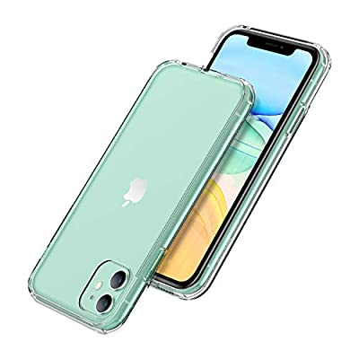 Unique Gadgets & Toys iPhone 11 Case, Clear Shockproof Anti-Watermark Dual Layer Hard PC + TPU Bumper Cover for iPhone 11 Cases 6.1 inch 2019 from Unique Gadgets & Toys