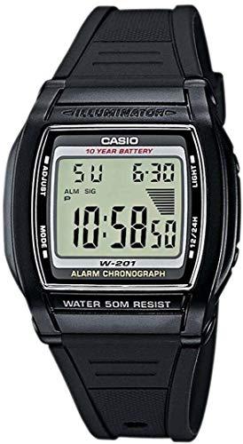 Casio W-201-1AVEG Relojes de Cuarzo Relojes Deportivos Relojes Digitales