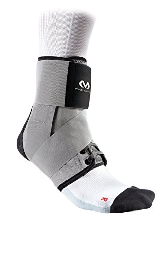 McDavid Level 3 Ankle Brace with Straps, Gray, Large