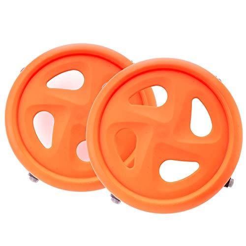 DHR-roue abdominale fitness Rouleau de roue ab for la gymnastique à la maison ronde plaque abdominale for hommes disque abdominal à quatre roues for rouleau abdominal Ab Trainer ( Couleur : Orange )