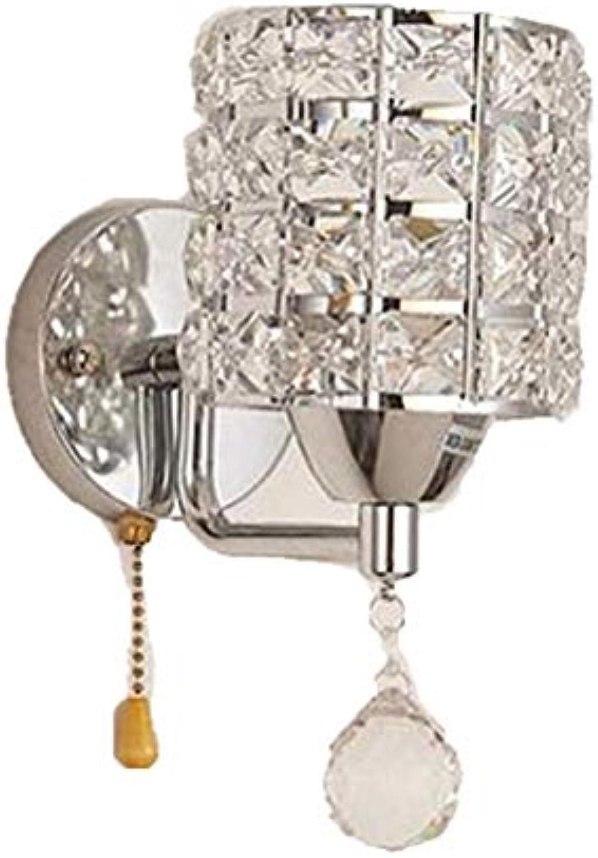 GONGFF Wandleuchte Kristall Wandleuchte Led Kristall Wandleuchte Schlafzimmer Nachttischlampe Gold Lampe Europischen Korridor Wohnzimmer Wandleuchte Licht, Chrom