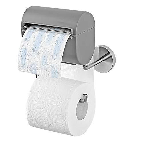 Toilettenpapierhalterung inkl. Befeuchter, Grau| Ohne Farb-, Duft- und Konservierungsstoffe | Hmipeewz Papierspender