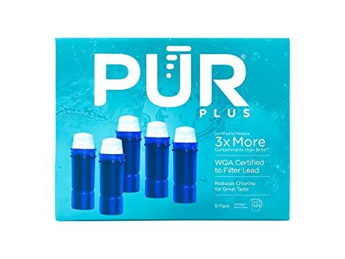 PUR Plus Pitcher Replacement Filters, 5 pk