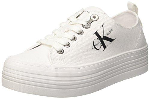 Calvin Klein Jeans Zolah Canvas Wht, Zapatillas para Mujer, Marfil (White R0673Wht), 39 EU