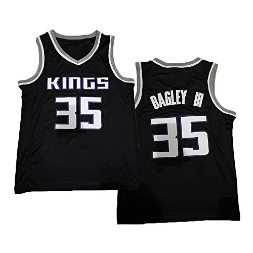 TPPHD NBA Jerseys, Sacramento Kings # 35 Marvin Bagley III Camisa de Baloncesto clásico, cómodo Ligero Transpirable Unisex Uniforme Uniforme,1,M